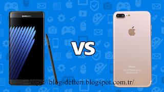 Hangisi Daha İyi Samsung Galaxy Note 7 Ve İphone 7 Plus Karşı Karşıya
