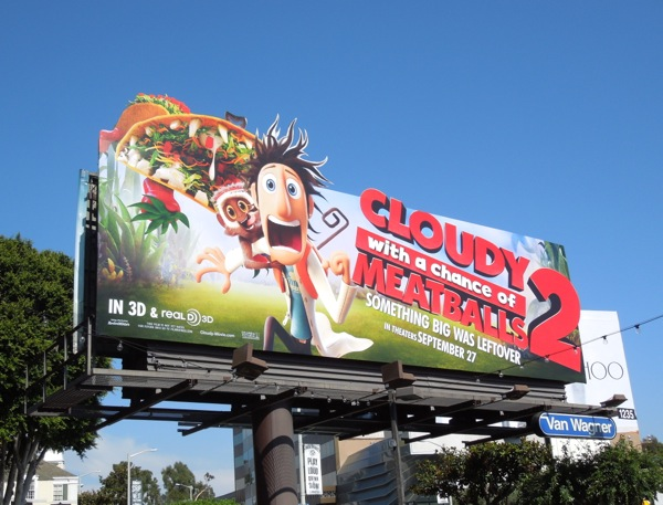Cloudy with a Chance of Meatballs 2 special extension billboard