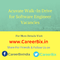 Acuvate Walk-In Drive for Software Engineer Vacancies
