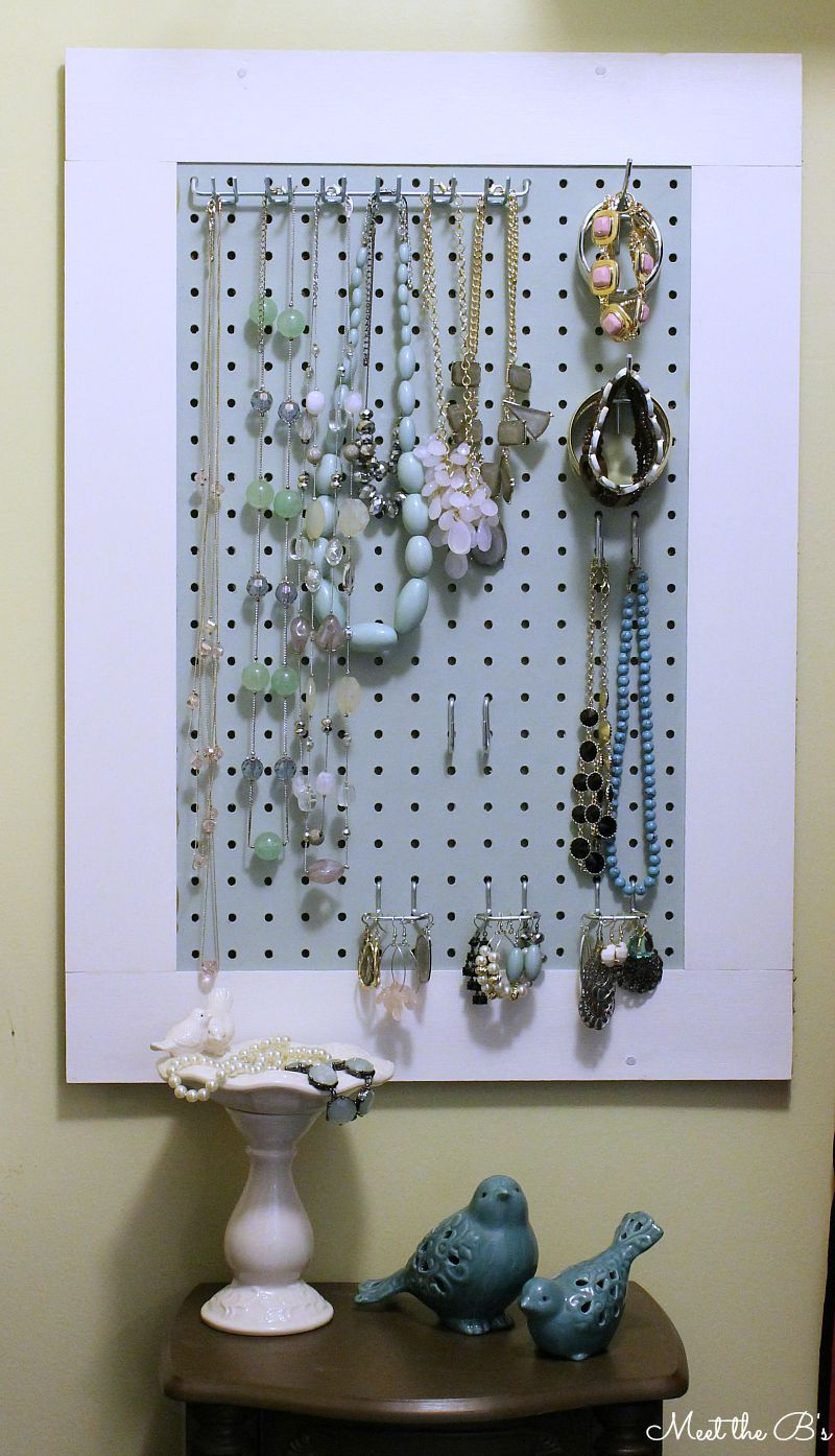 September Monthly Diy Challenge Pegboard Jewelry Organizer The