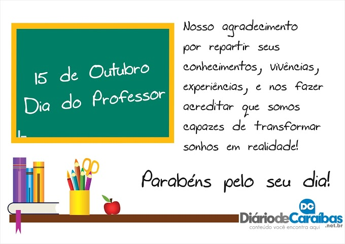 15 de Outubro. Dia do Professor.