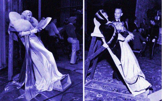 Macas de descanso para atrizes de Hollywood (Jean Harlow)