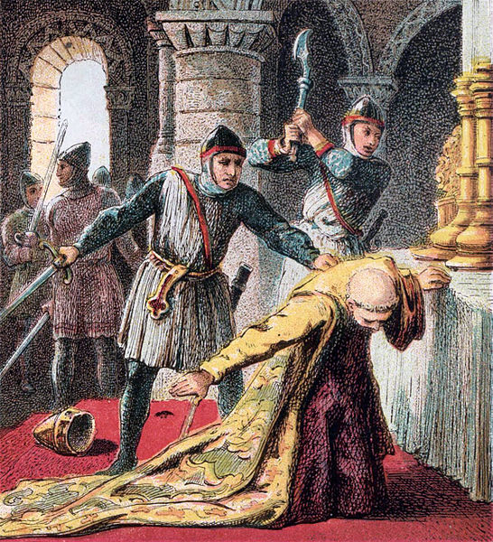 the death of thomas beckett St thomas becket facts: thomas becket (who called himself thomas of london) was the son of gilbert becket  becket's death.