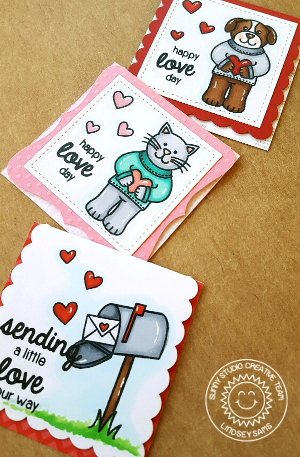 Sunny Studio Stamps: Sending My Love Valentine's Day Cards by Lindsey Sams.