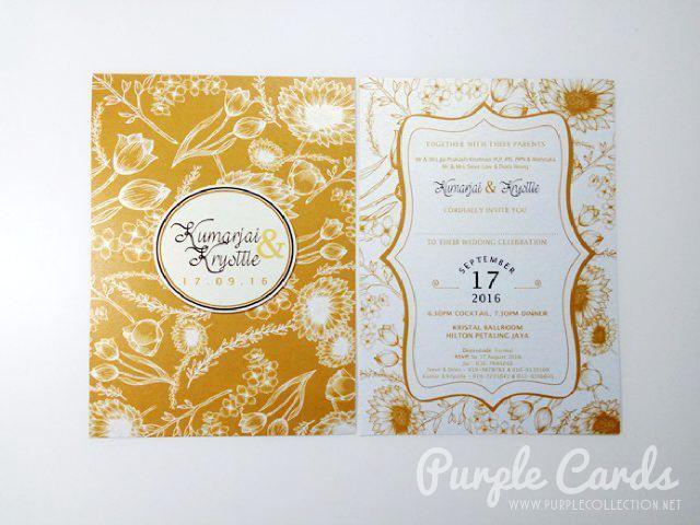 wedding card printing malaysia, kuala lumpur, selangor, johor bahru, singapore, pulau pinang, penang, ipoh, perak, pulau pangkor, photo collage, melaka, seremban, kuantan, bentong, pahang, sandakan, sabah, kota kinabalu, sarawak, kuching, online order, catalogue, agent, express, service, design, personalised, personalized, bespoke, satin ribbon, embellishment, special, unique, own design, floral, flower, peony, golden brown, kristal ballroom, hilton petaling jaya, hotel