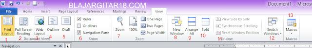 Fungsi icon view pada microsoft word