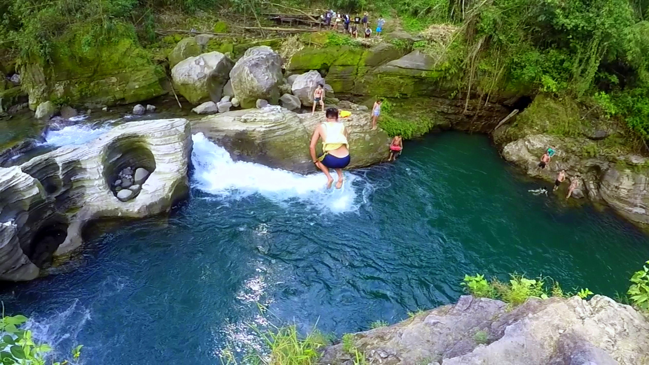 Cliff Diving Spot Tangadan Falls Baroro River San Gabriel