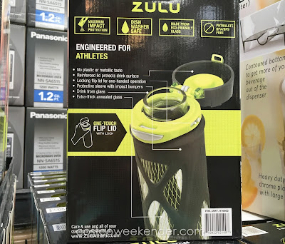 Costco 916862 - No more plastic taste with the Zulu Glass Water Bottles
