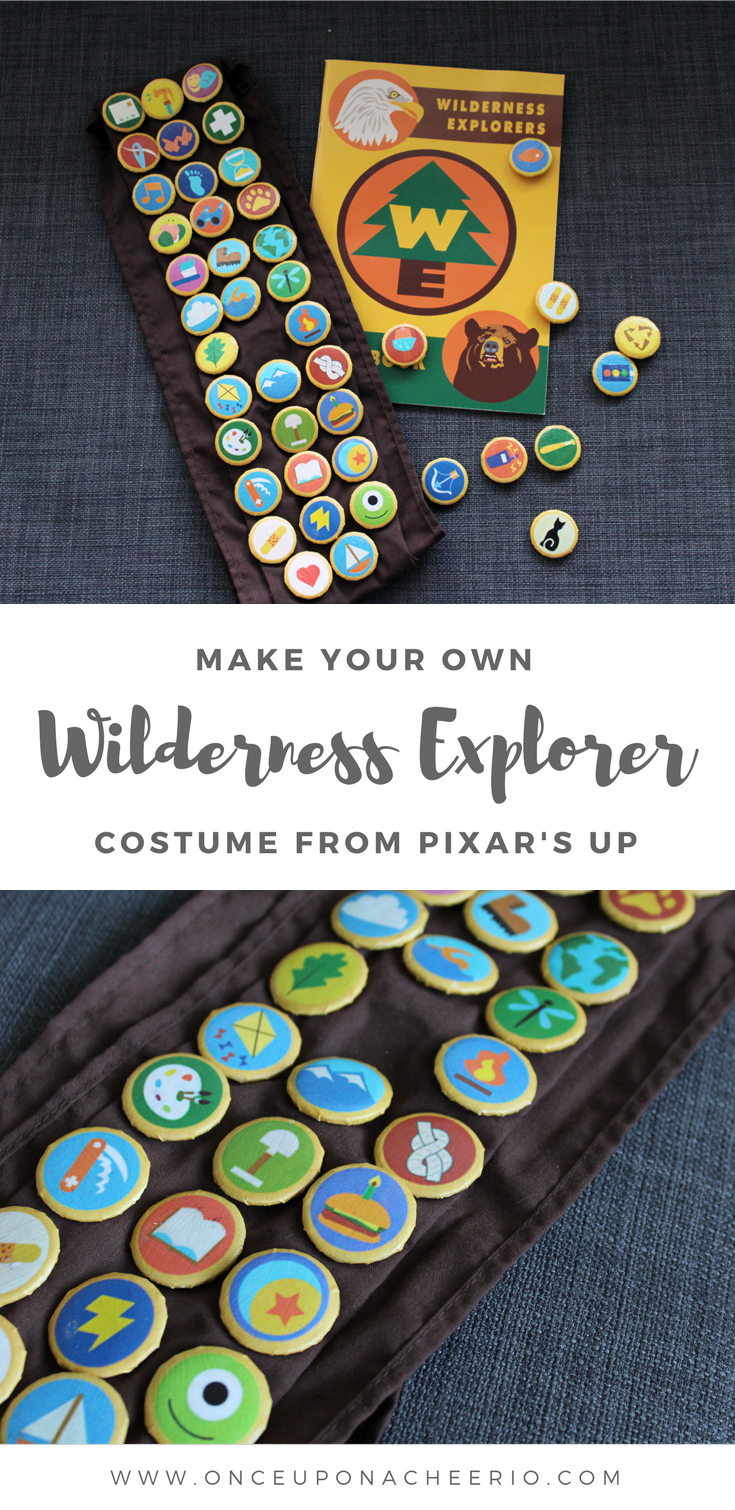 Disney Pixar UP Inspired Wilderness Explorer Costume Tutorial DIY