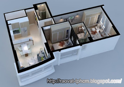 Mẫu căn hộ chung cư Summer Square Q6