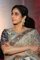 Sri Devi in designer saree stunning beauty at the launch of MOM movie Trailer~  Exclusive 064.JPG