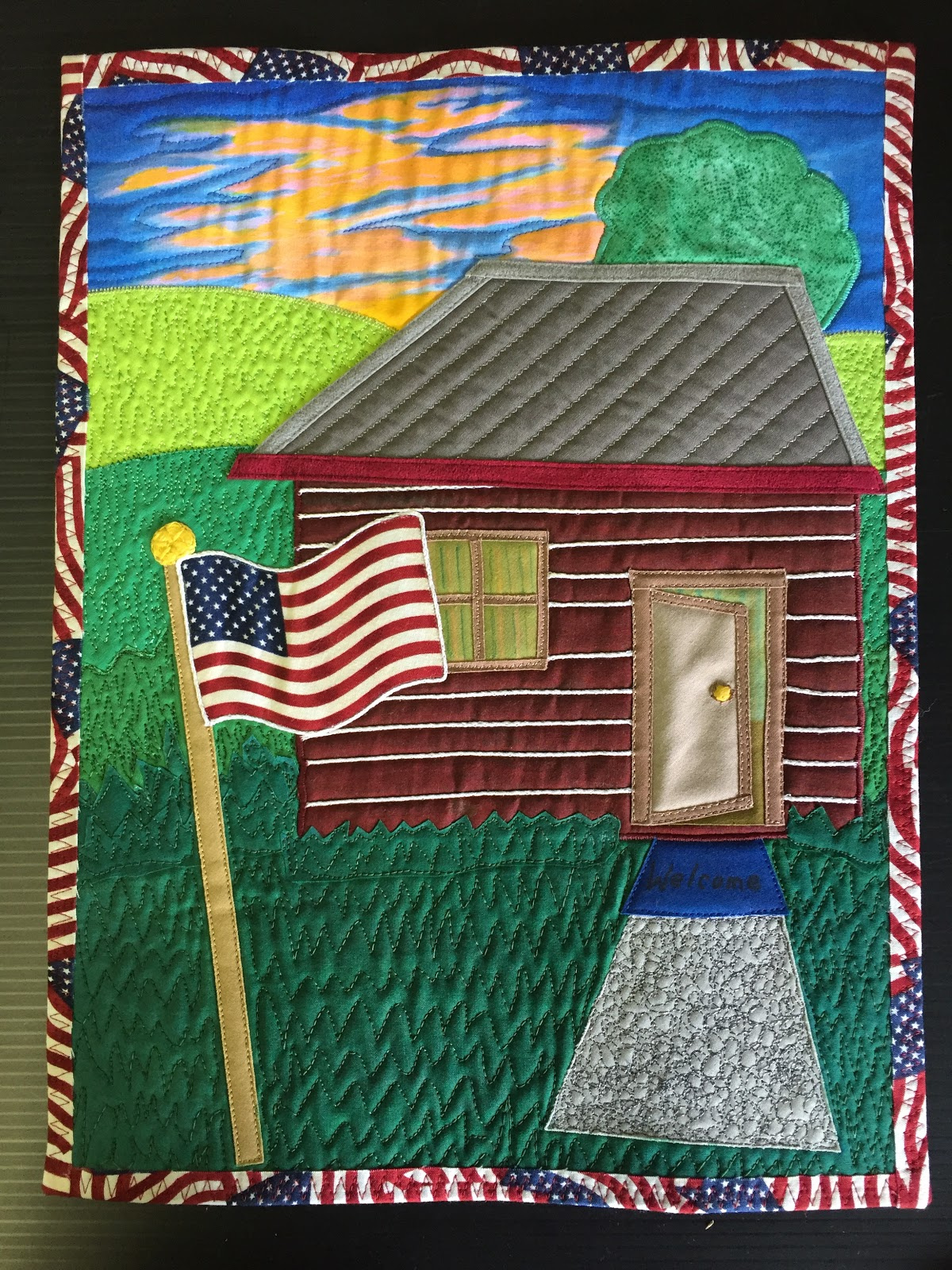 The house quilt project for Log cabin florist bakersfield