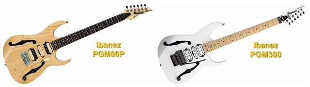 Guitarras Eléctricas Ibanez PGM80P e Ibanez PGM300