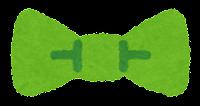 蝶ネクタイのイラスト(緑)