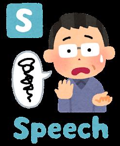 脳卒中の症状の「Speech」のイラスト