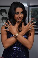 Sanjana looks happy in sparkling short Deep neck Purple Gown ~  Exclusive 56.JPG