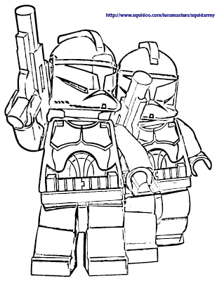 Squid Army Lego Star Wars Coloring Pages
