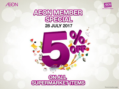 AEON Supermarket Malaysia Member Special 5% Discount All Items Promo