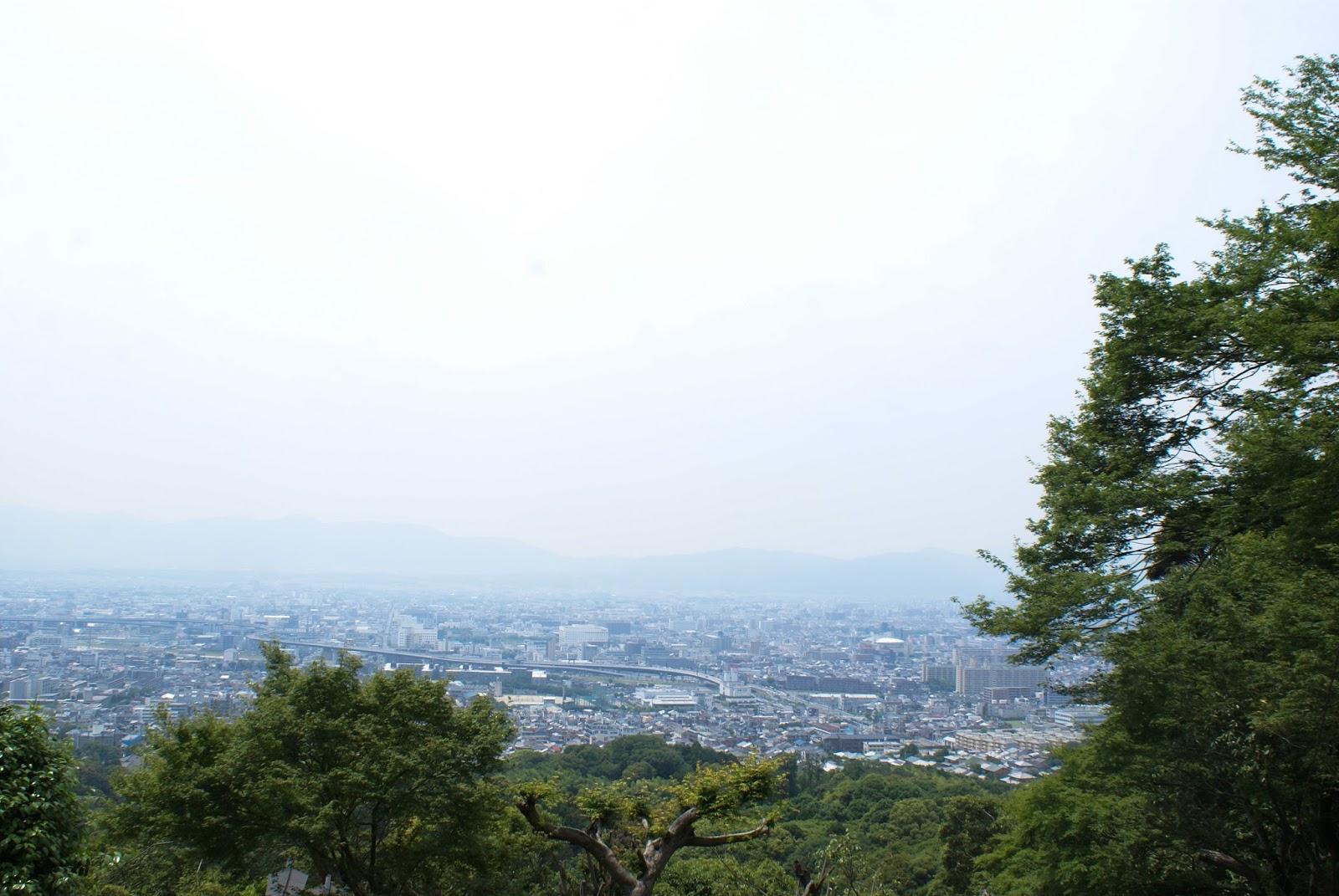 vue kyoto japon fushimi inari