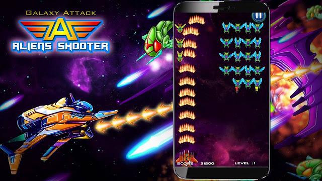 یاری Galaxy Attack: Alien Shooter بۆ ئهندرۆید و ئایفۆن