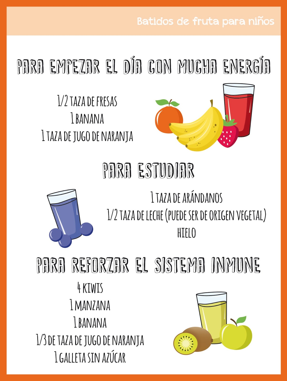 Dieta batidos de frutas