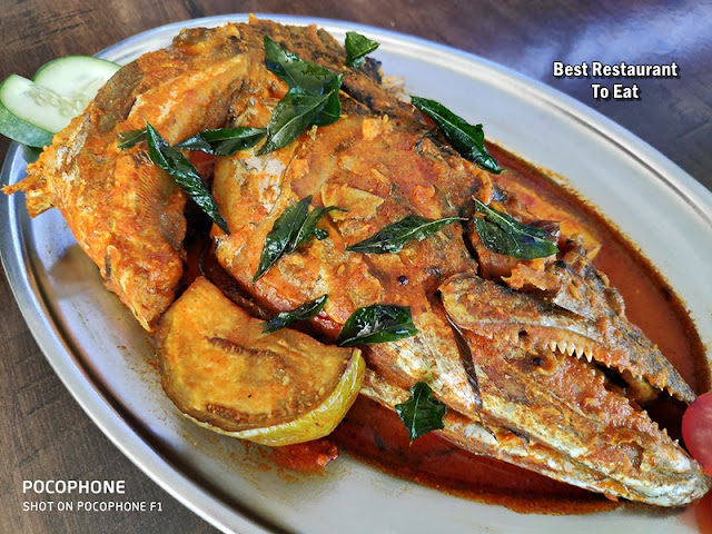 OBL Banana Leaf Rice Curry Fish Head
