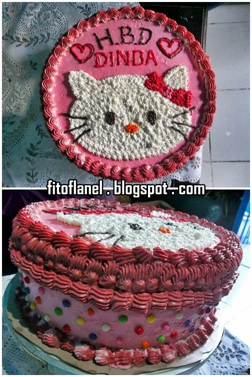 Fit O Flanel Kue Tart Hello Kitty