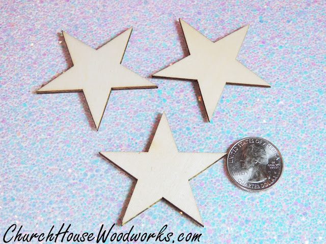 Wooden Star Ornaments - Christmas DIY Craft Projects- Christmas Village Miniatures And Wreath Ideas by ChurchHouseWoodworks.com