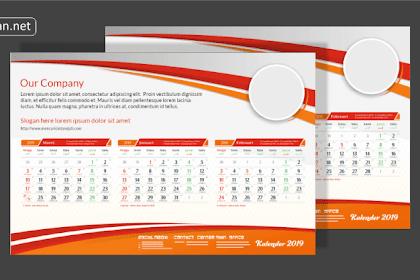 Download Template Kalender 2019 CDR Gratis Lengkap Dengan Tanggal Jawa dan Hijriyah
