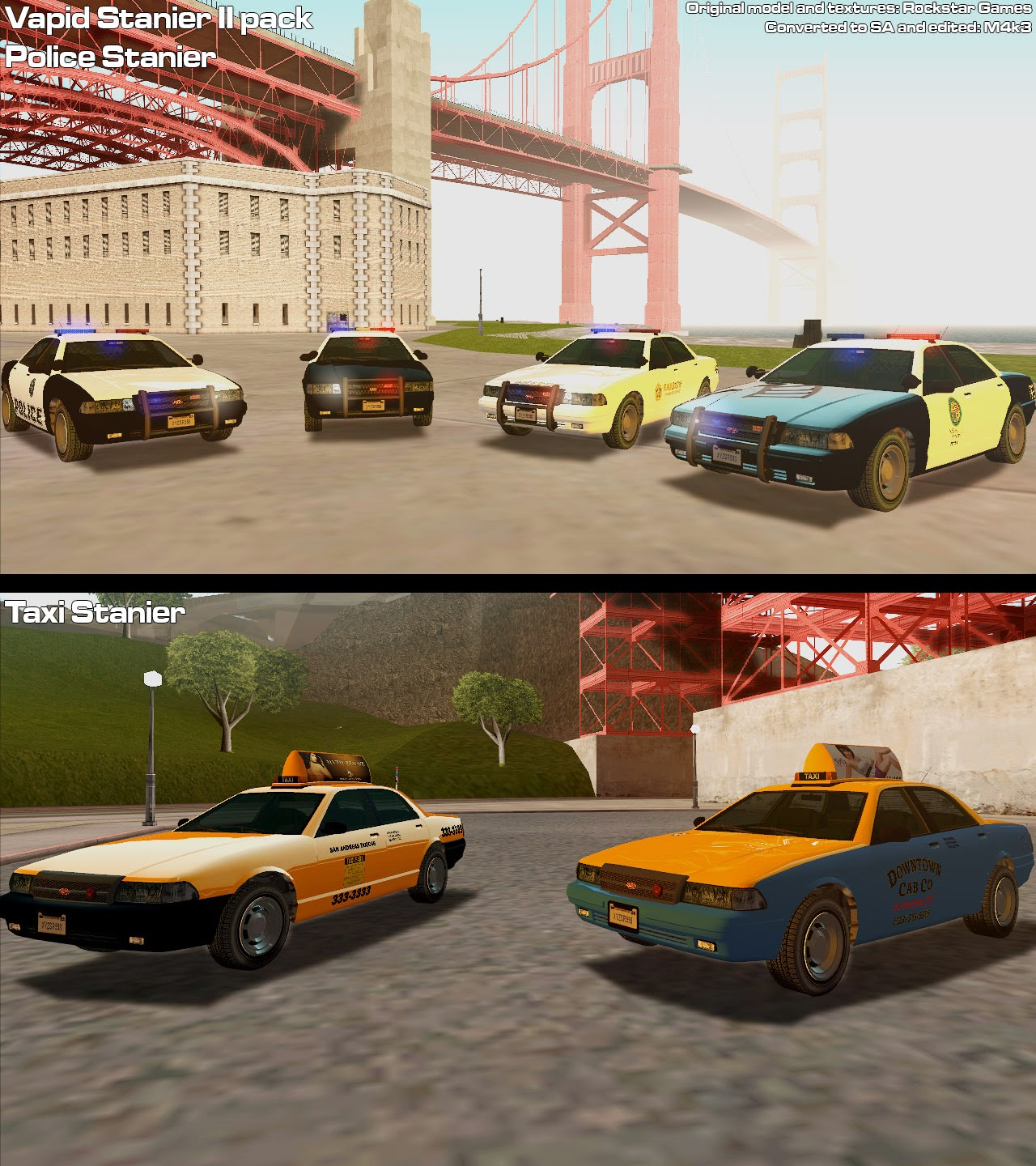 gta sa gta v car pack