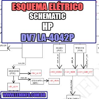 Esquema Elétrico Notebook HP DV7 LA - 4042P Laptop Manual de Serviço