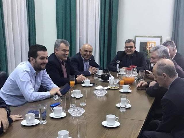 """Το Επιμελητήριο Αργολίδας και τις """"Εσπερίδες"""" επισκέφθηκε ο Γιάννης Μπουντρούκας"""