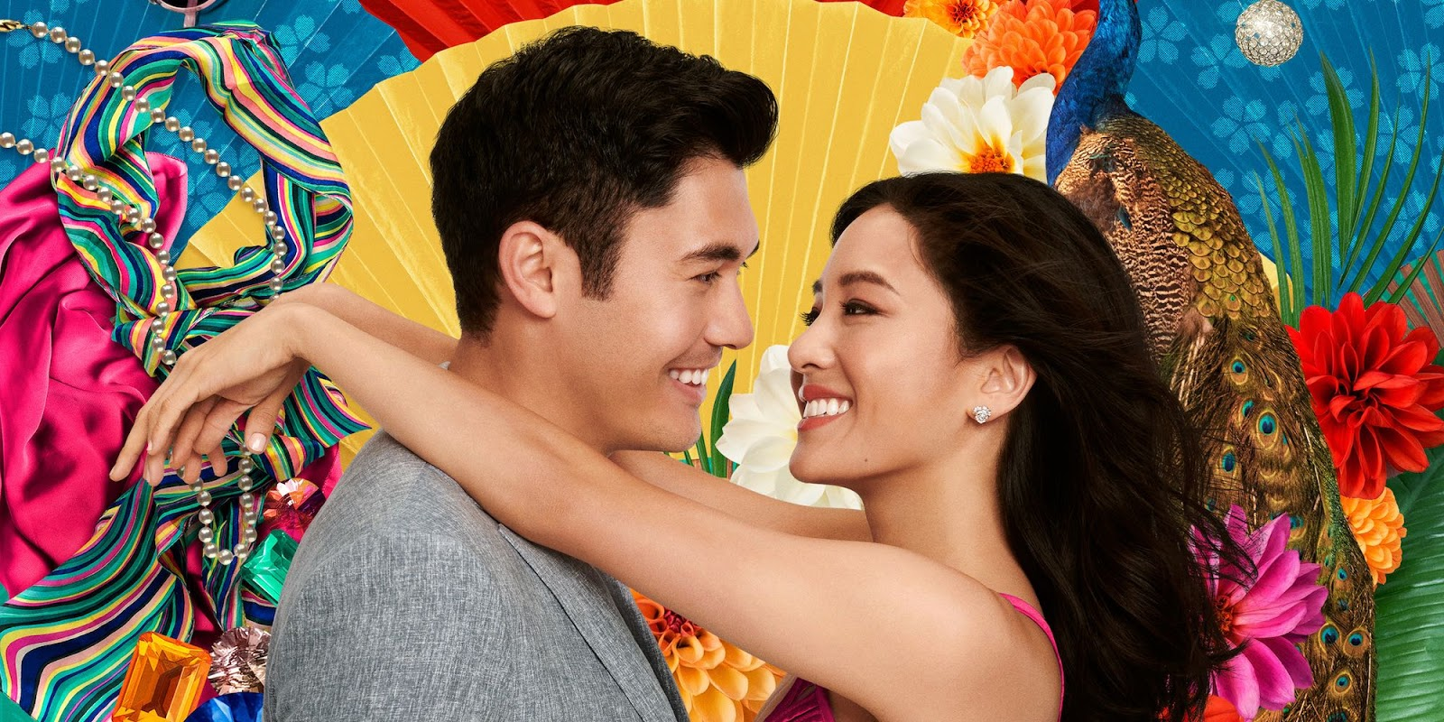 Henry Golding as Nick Young and Constance Wu as Rachel Chu in 'Crazy Rich Asians'