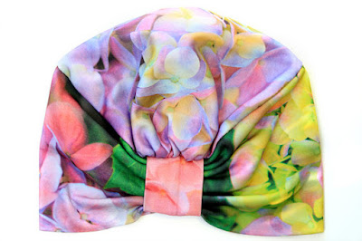 Hydrangea Print Fashion Turban by Mademoiselle Mermaid