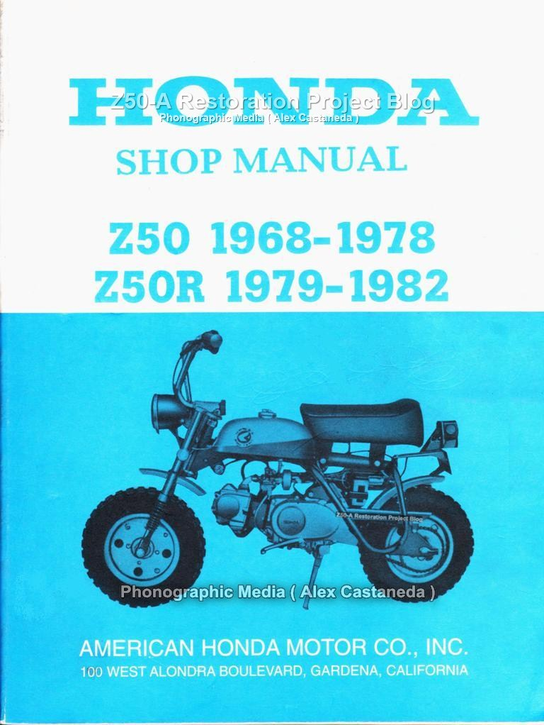1978 Honda Z50 Service Manual - Enthusiast Wiring Diagrams •