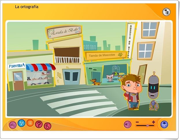 """""""La ortografía"""" (Aplicación interactiva de Lengua Española de Primaria)"""