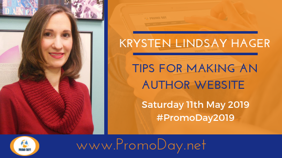 #PromoDay2019 Krysten Lindsay Hager Tips for Making an Author Website