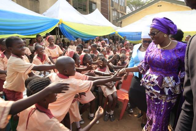 Mrs. Ambode charges parents to maintain clean environment