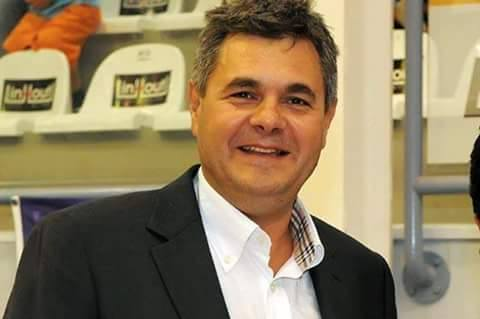 Ο διεθνής διαιτητής του μπάσκετ Κώστας Κορομηλάς σήμερα στο Άργος
