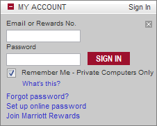 Marriott Rewards Login