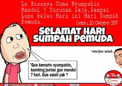 10 Meme 'Sumpah Pemuda Zaman Now' Ini Nyindir Abis Generasi Micin, Pedih Bray!