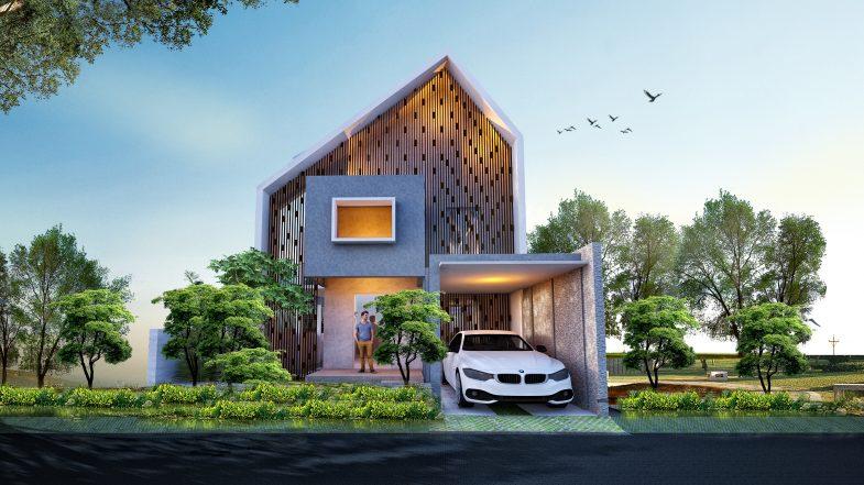 Desain Rumah Bapak Cyrillus Karya Rony Arsyad