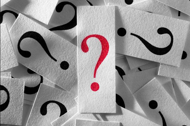 Imagen de signo de interrogacion, marca de pregunta en color rojo