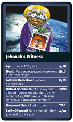 Funny World Religion Top Trumps Cards Jehovah's Witness Image