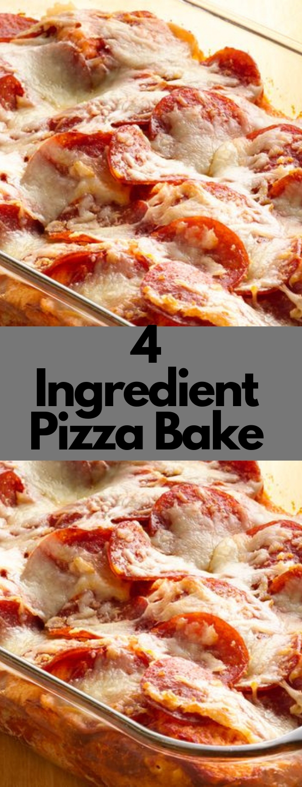 4-Ingredient Pizza Bake #PIZZA #COMFORTFOOD  #HEALTHY #EASY