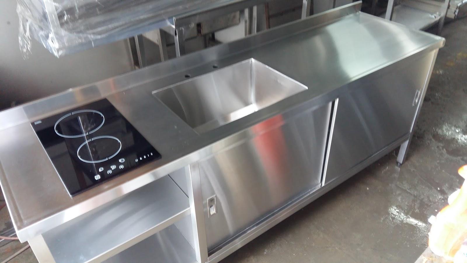 Cocinas industriales familiares: Mesadas de acero inoxidable ...