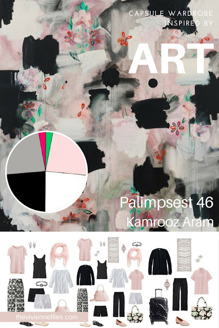 Warm Weather Travel Capsule Wardrobe by Starting with Art: Palimpsest 46 by Kamrooz Aram