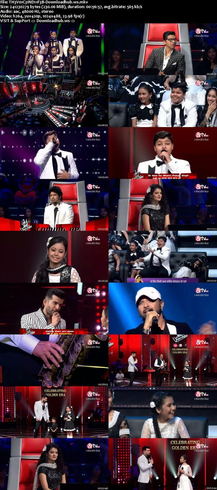The Voice India Kids 2 11 February 2018 Episode 28 HDTV 480p