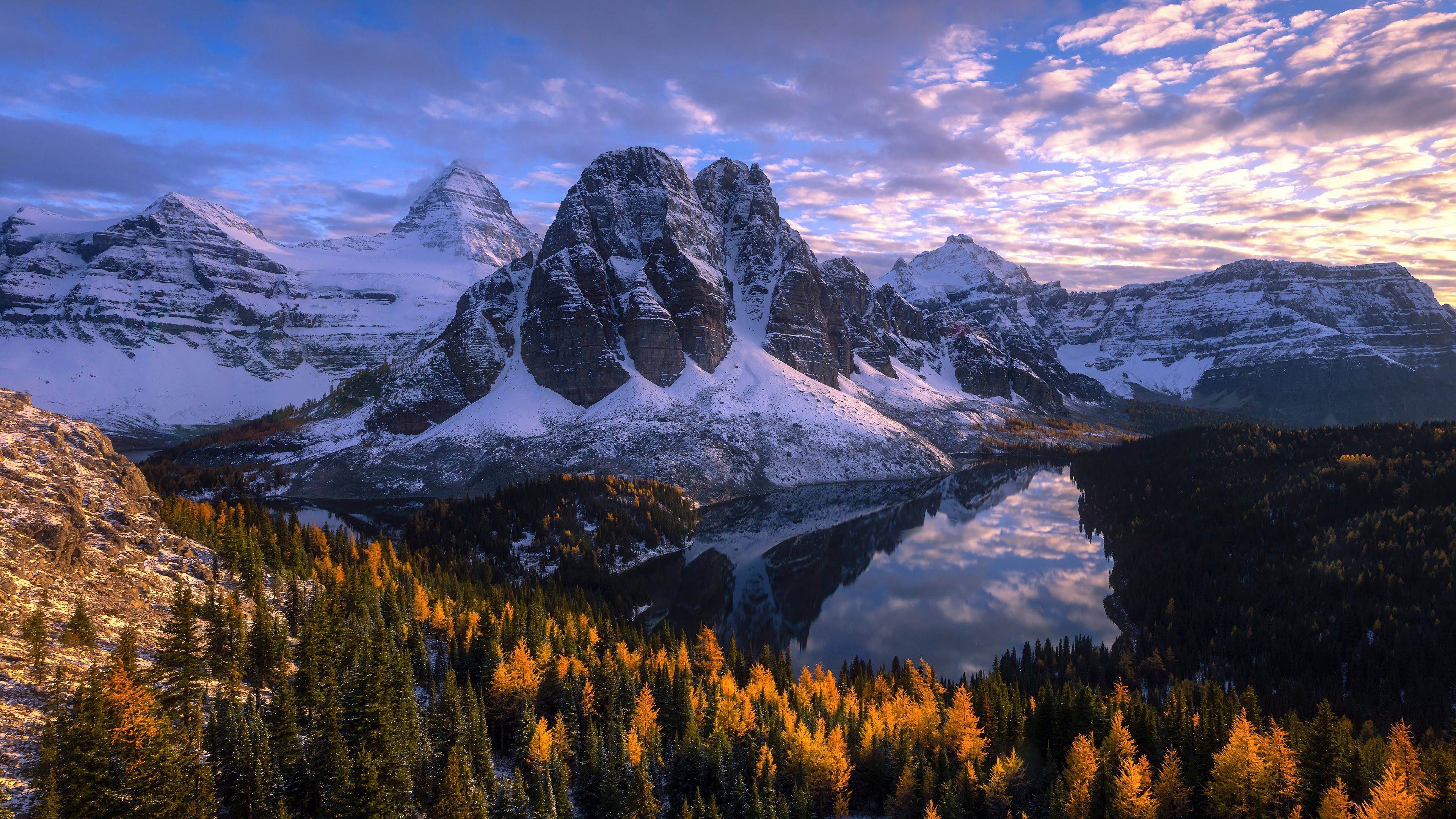 Mountain, Lake, Nature, Forest, Landscape, Scenery, 4K ...
