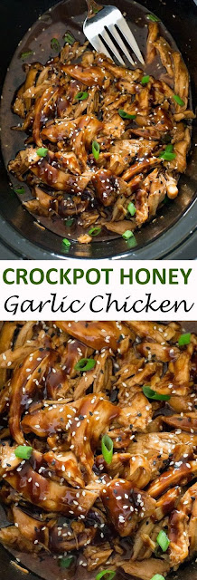 SLOW COOKER HONEY GARLIC CHICKEN - In A Sweet And Tangy Asian Inspired Sauce.